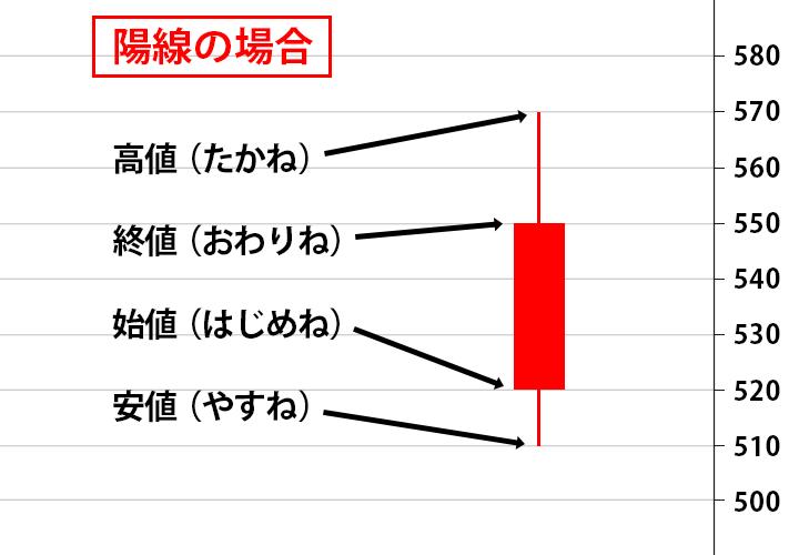 ローソク足 陽線の解説